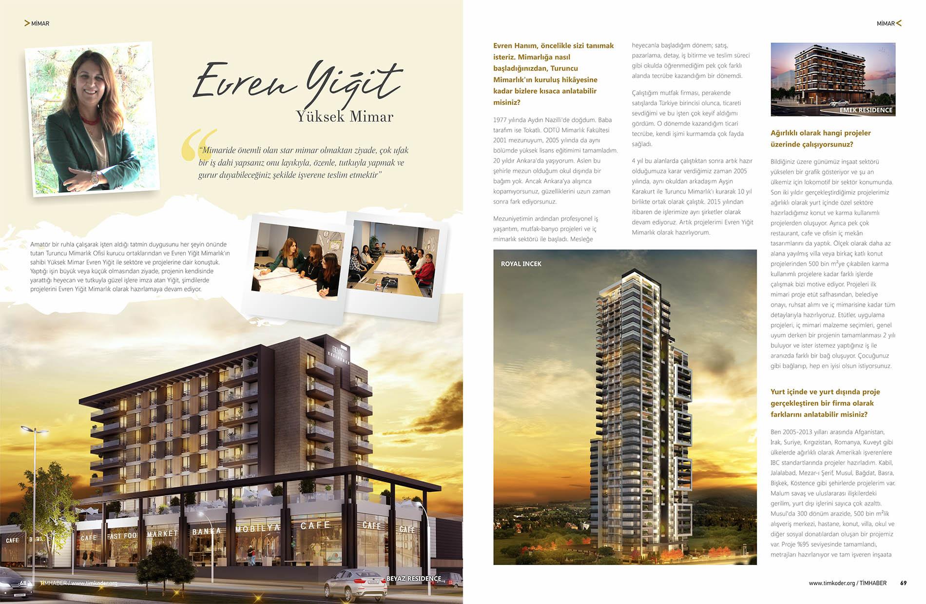 Evren Yiğit | TimHaber Magazine interviewed Evren Yiğit on its TIMKODER-KOSGEB Project Special Issue | Sıradışı Digital